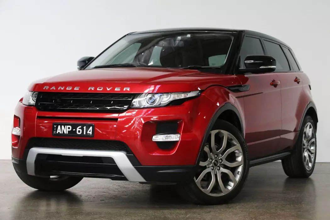 Range Rover Evoque red exterior